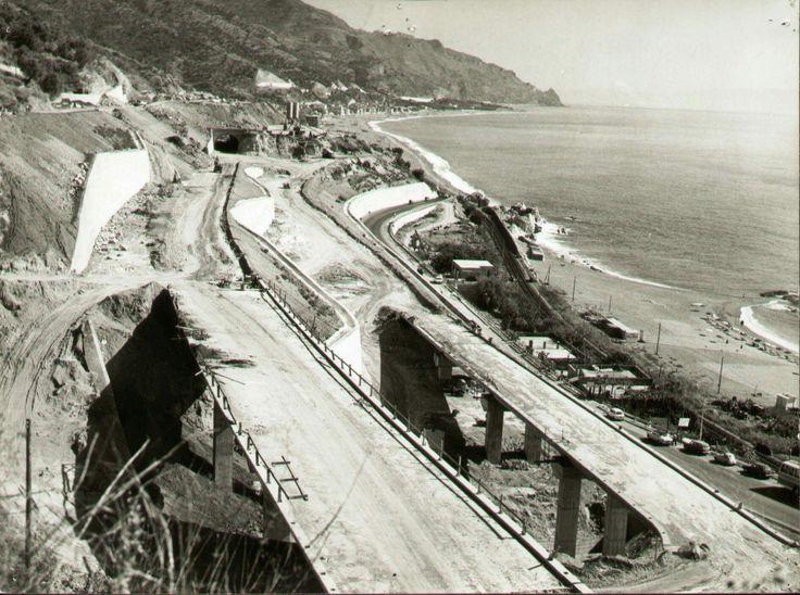 I lavori per la realizzazione dello svincolo di Spisone della ME-CT, nel 1967