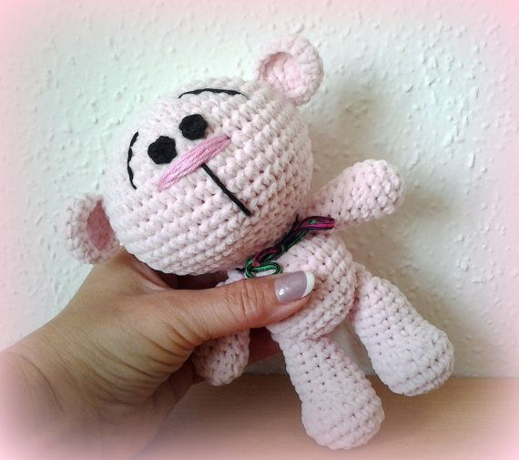 Crochet Teddy Candy Powder by CrochetlandRV on Etsy
