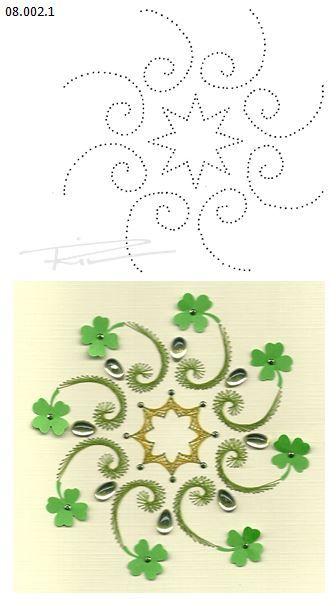 08.002.1 borduren op papier 08.002.1 embroidery on paper 08.002.1 broderie sur papier