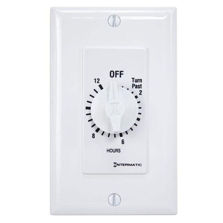Intermatic 20 Amp 12 Hour Spring Wound In Wall Timer White White Plastic Products Bathroom