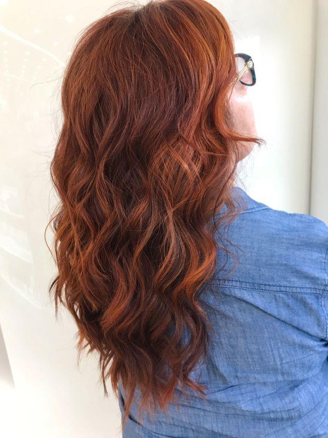 Auburn With Copper Copper Balayage Hair Color Auburn Hair