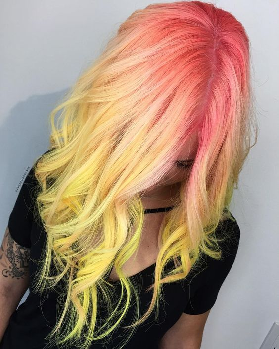 34 Trendy Yellow Ombre Hair Colors Ideas - Hairstyles ...