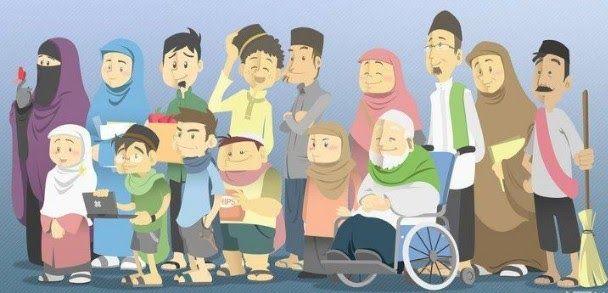 Gambar Kartun Muslimah Keluarga Bahagia Hijab Lelaki Pun Perlu Berhijab Biar Betol Tshirt Muslimah Muslim Vectors Photos And Psd Files Di 2020 Kartun Gambar Teman