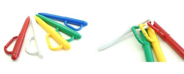 [Op'] カラビナボールペン/携帯ストラップ・キーホルダー付き/名入れボールペン製作「OH!名入れペン」
