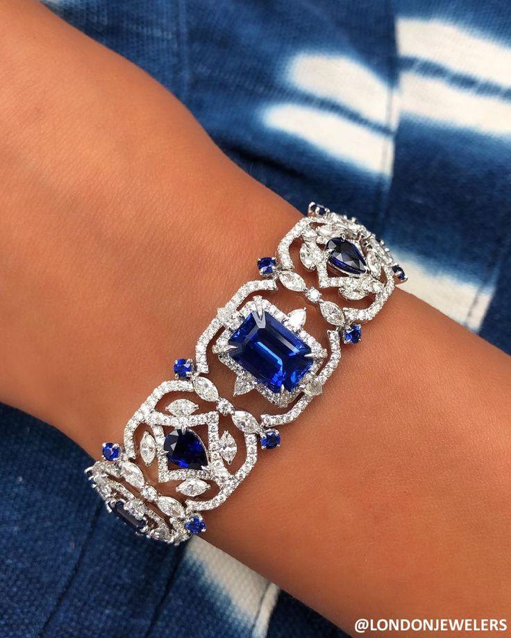LONDON JEWELERS on London Jewelers Mixed Shaped diamonds and sapphires #easthamp…