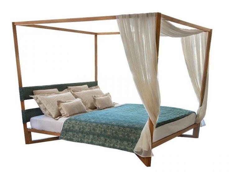 Έπιπλα Ξενοδοχείου Κρεβάτια Ξύλινα με Ουρανό MO607 - Έπιπλα - GK Mobili