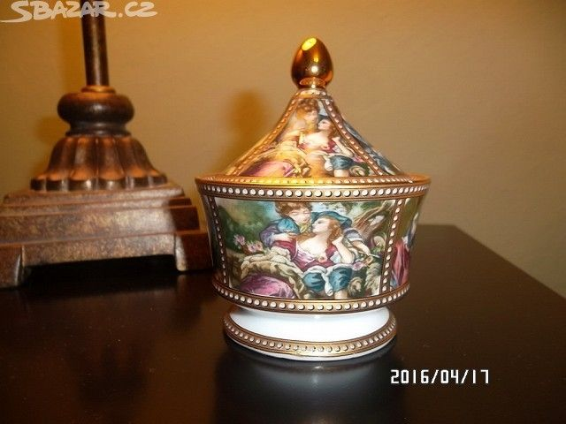 Prodám šperkovou porcelánovou dózu zn. REGAL. Rozměry: - obrázek číslo 1