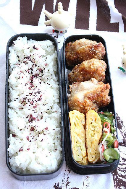 Kara agé bento - poulet frit à la japonaise