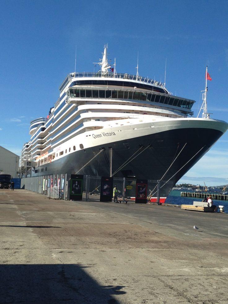 Queen Victoria docked in Auckland