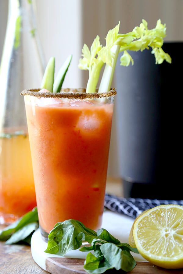Gazpacho Bloody Mary - A fresh and zesty Gazpacho Bloody Mary Recipe that will have you sipping on the best ingredients the garden has to offer! Recipe, vegan, drinks, cocktail, gluten free   pickledplum.com
