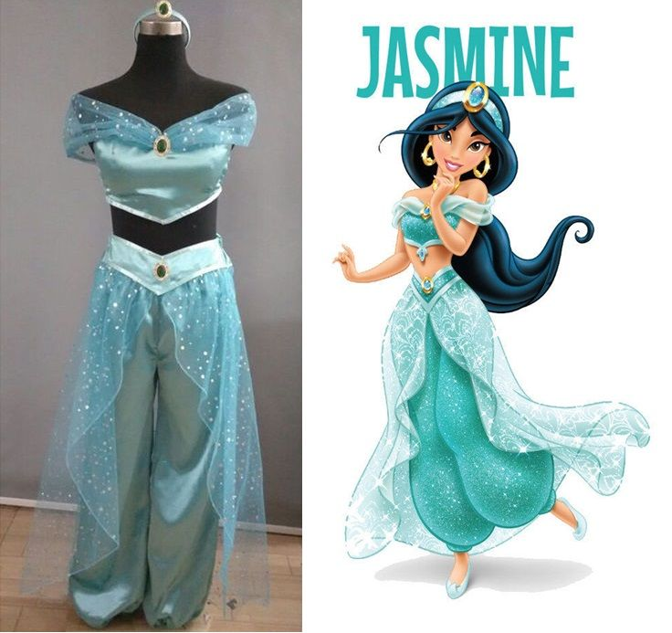 Lamp of Aladdin Princess Jasmine Cosplay Costume Carnaval Halloween Costumes for Women/Kids Stage Performance Clothing Custom
