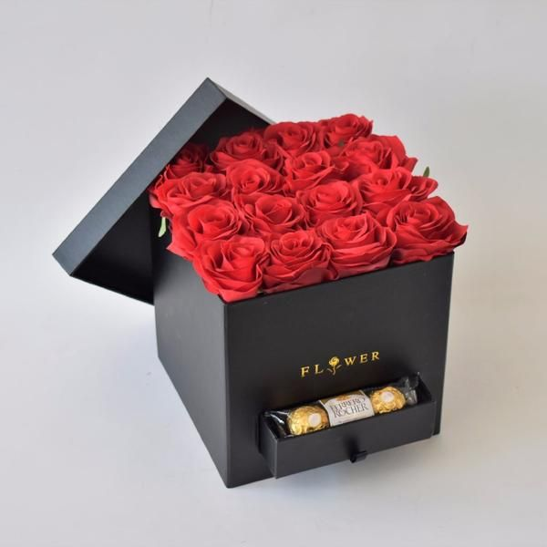 Red Romance Floral Gifts The Flower Station Flower Boxes Order Flowers Flowers