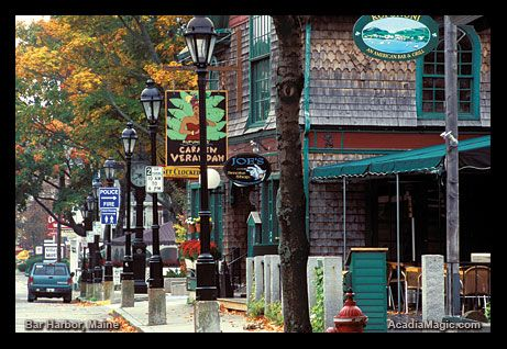 Bar Harbor, ME - a wonderfully quaint and beautiful town with the magnificent Acadia National Park nearby.