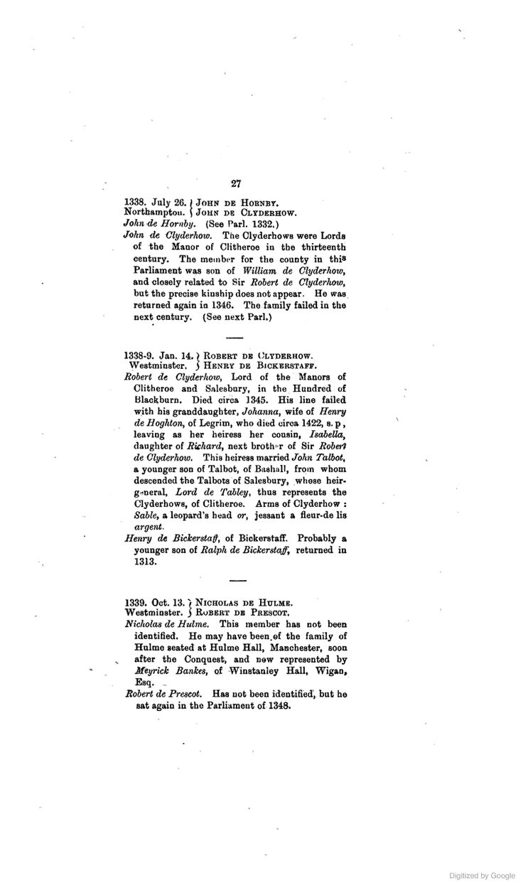 The Parliamentary Representation of Lancashire, (county and Borough), 1258 ... - William Duncombe Pink - Google Books