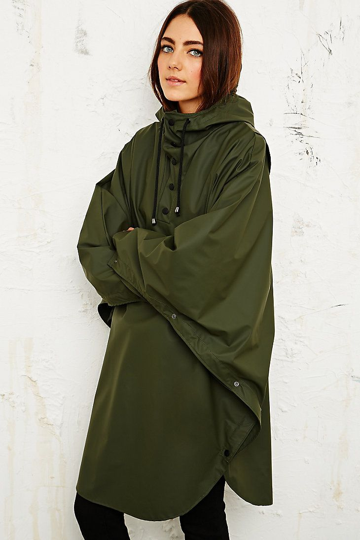 Rains Waterproof Poncho in Khaki