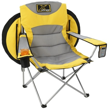 Drink holder, cell phone pocket AND an umbrella....perfect tailgating chair!!: Super Chairs, Voyage Collap, Xscape Design, Backpacks Chairs, The Great Outdoor, Design Voyage, Voyage Backpacks, Folding Chairs, Allpark Backpacks Cans T Wait