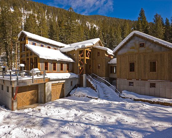 This is a different exterior…  Luxurious Mine House Design with Classic Interior Design: Traditional Mountain House Design Altman Mine Shaft Exterior