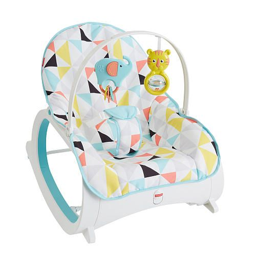 âFrom soothing & snoozing to playing & eating, the Fisher-Price Infant-to-Toddler Rocker keeps babies cozy and secure...even as they grow! It starts out as an infant seat or rocker and has an overhead toy bar for bat-at fun. For some soothing action, try