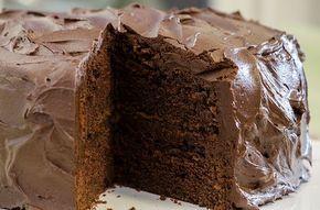 saftig mørk sjokoladekake