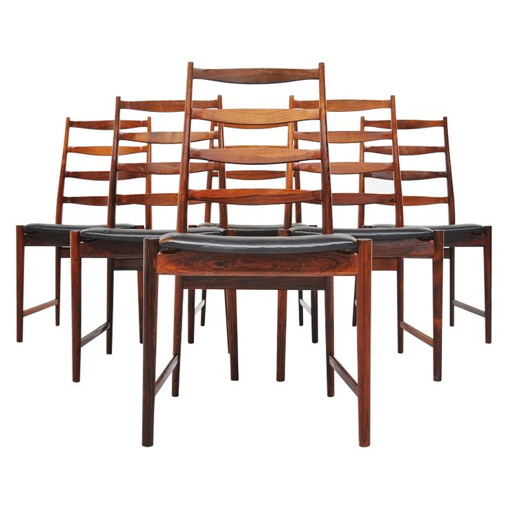 1stdibs | Arne Vodder Vamo Sonderborg high back dining chairs rosewood 1960