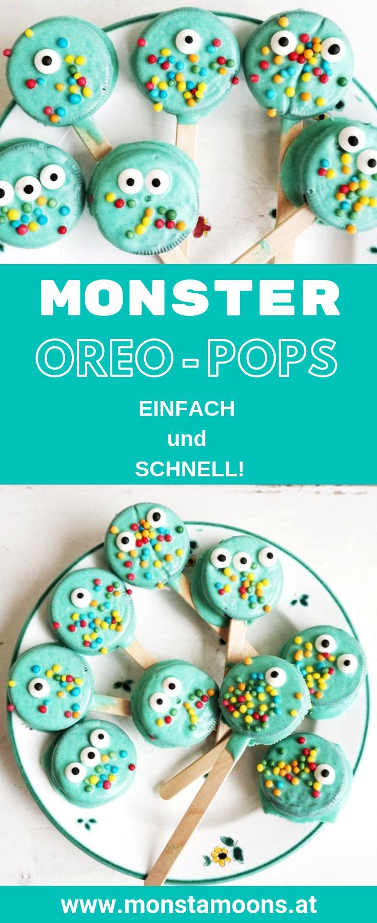 Monster OreoPops für die Kinderparty oder Halloween