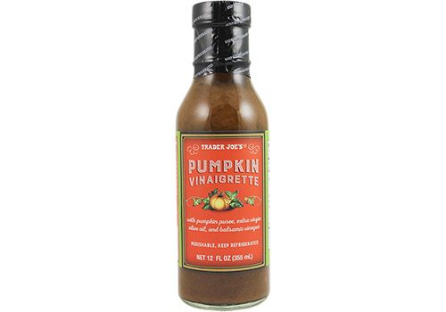 Trader Joe's Pumpkin Vinaigrette Dressing  12 oz.  $3.49  #traderjoes #pumpkin #vinaigrette #saladdressing