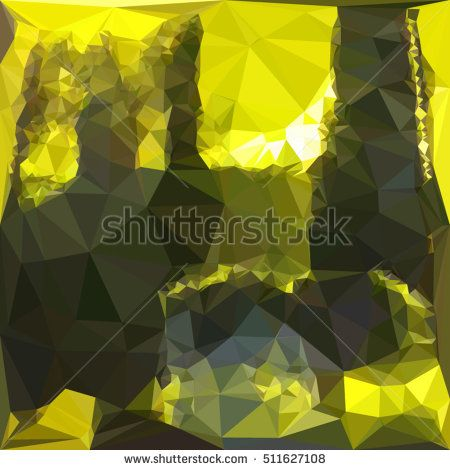 Low polygon style illustration of an electric lime yellow abstract geometric background. #abstractbackground #lowpolygon #illlustration