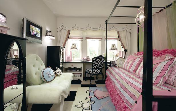 Pink and Black - droolTeen Bedrooms, Bedrooms Design, Kids Room, Girls Room, Room Ideas, Bedrooms Painting Colors, Teen Girls Bedrooms, Bedrooms Decor Ideas, Teen Room