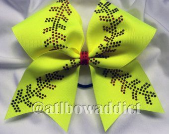 Softball Bow  Customized with your team/name and number