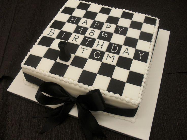 Chess Board Birthday Cake