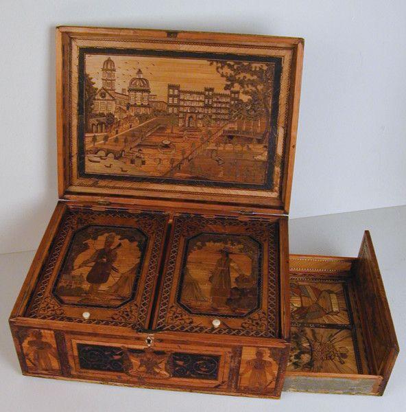 19th Century Napoleonic Prisoner of War Straw-work Marquetry Box (c. 1810 to c. 1820 England)
