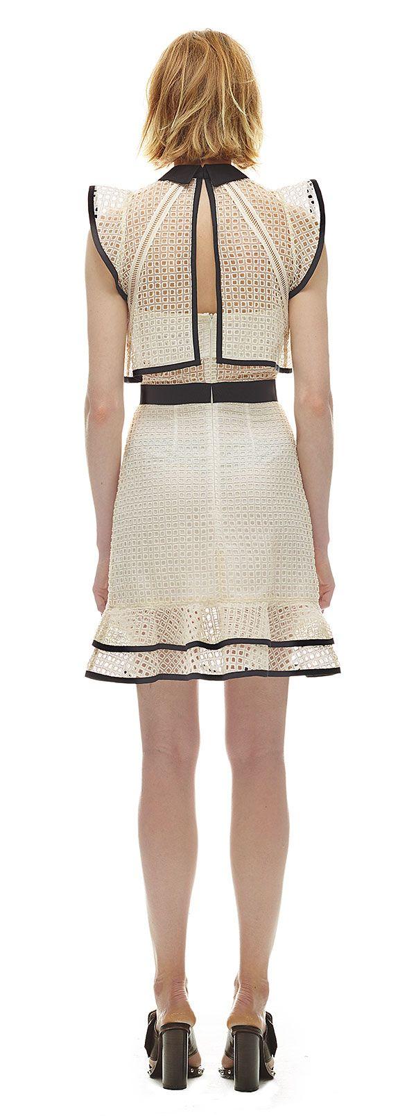 Contrast Flounced Mini Dress