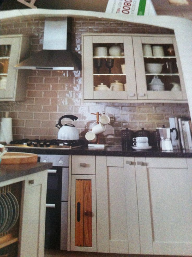 Nice tiles and cupboard style