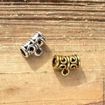 Для украшений ручной работы. Ярмарка Мастеров - ручная работа. Купить Бейлы 9 мм - 2 шт - 2 цвета держатели для кулонов подвесок. Handmade.