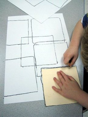 Mondrian Inspired Abstract Art Lesson Plan: Art History for Kids - KinderArt®️️