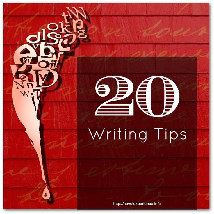 20 Writing Tips: Improve your writing & book selling skills