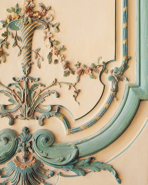 Rococo - Versailles Door, Paris Photograph, Pastel, Shabby Chic, Romantic, Wedding Decor, Mother's Day, Baby Blue, Spring Home Deco on Etsy, $30.00