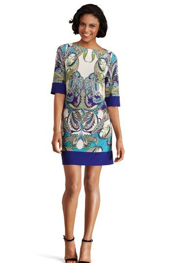 Donna Morgan Print Matte Jersey Shift Dress available at #Nordstrom  Bought it!