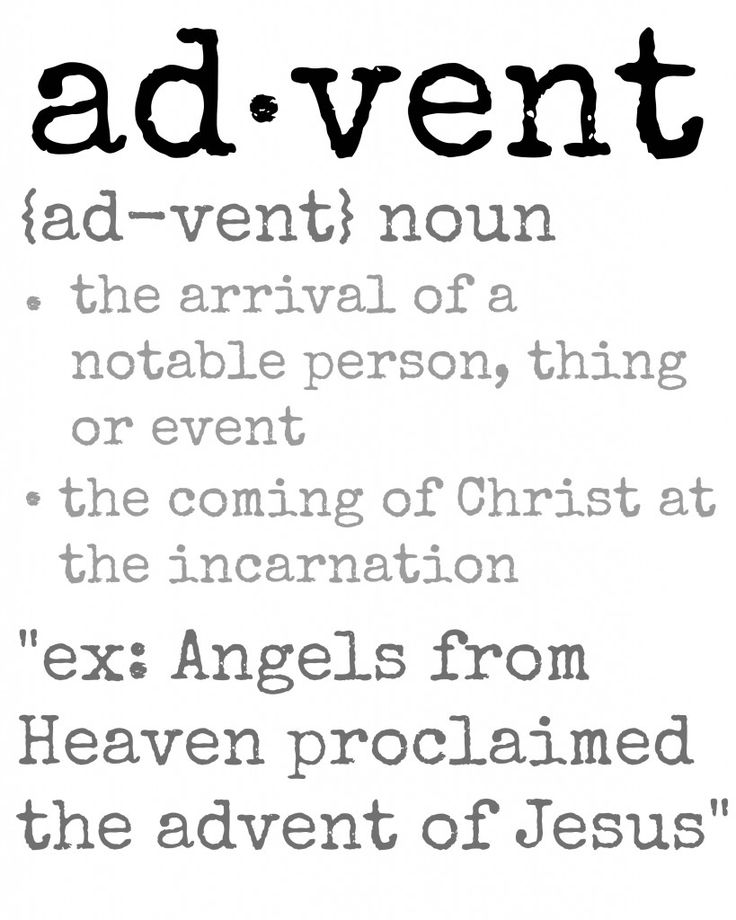 Advent Definition Printable - Perfect next to the Advent Candles  The Lilypad Cottage