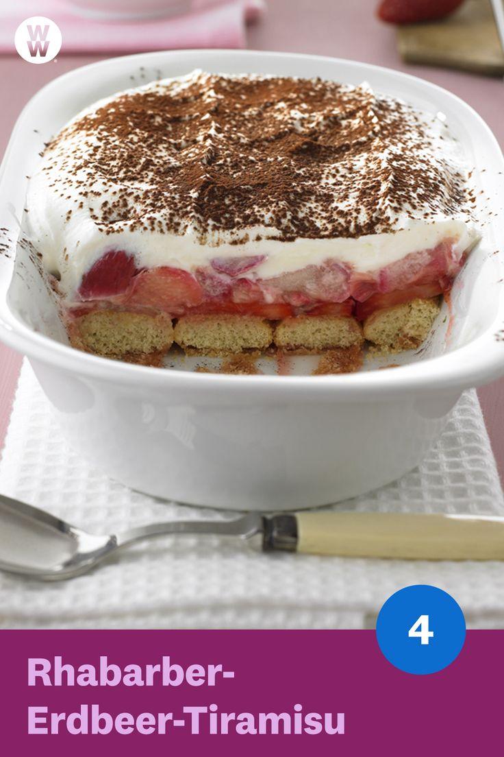 Rhabarber-Erdbeer-Tiramisu