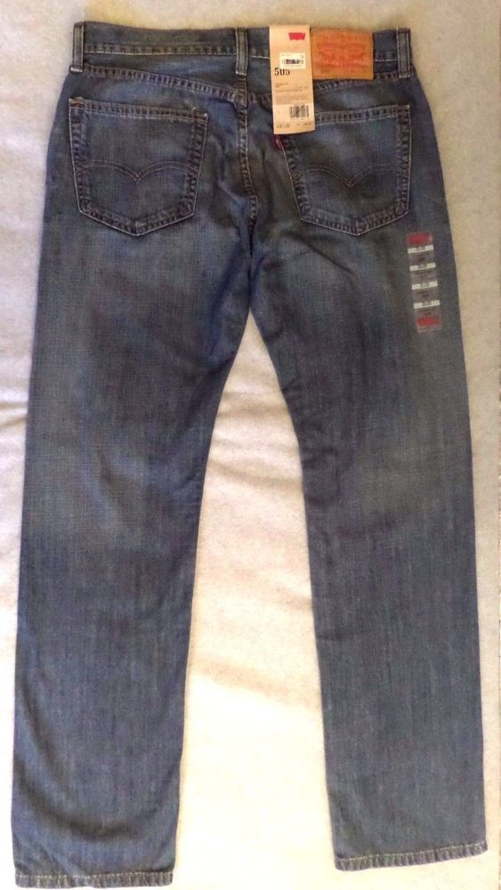 Levis 505 Jeans New Size 31 x 32  (Med Blue) Mens Straight Fit Zip Fly NWT #Levis #ClassicStraightLeg