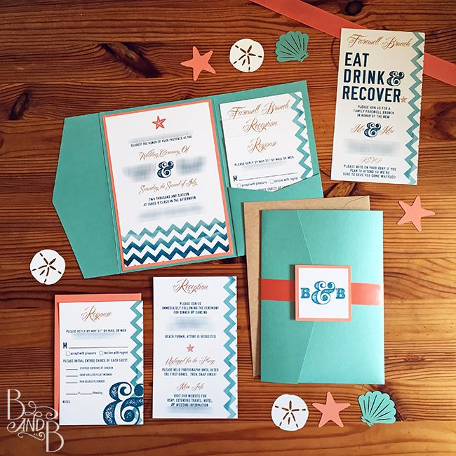 Our Outer Banks Wedding Invitations