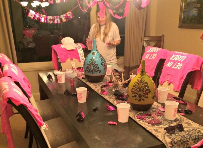you can't sit with us mean girls themed bachelorette party