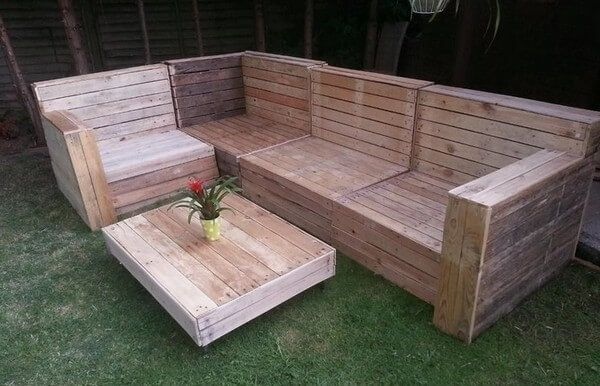Diy Outdoor Furniture With Old Wood Pallets Pallet Garden