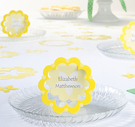 Yellow Flower Name Cards