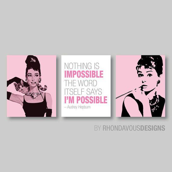 Girly Bedroom Audrey Hepburn Poster: 25+ Best Ideas About Audrey Hepburn Decor On Pinterest