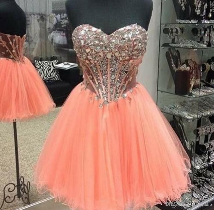 Sexy Short Prom Dresses Sparkling Rhinestones Top Illusion Sheer Back Pleats Tulle Ball Gown Party Dress Vestidos Festa Cheap Prom Dresses Evening Dress Vestidos Festa Online with $129.0/Piece on Lpdqlstudio's Store   DHgate.com