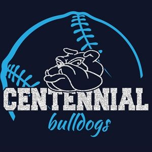 Centennial High School Glitter Baseball Tee!  We can customize the colors and names for your school!  You can buy it now at: http://sparklytees.com/store/centennial-baseball-3