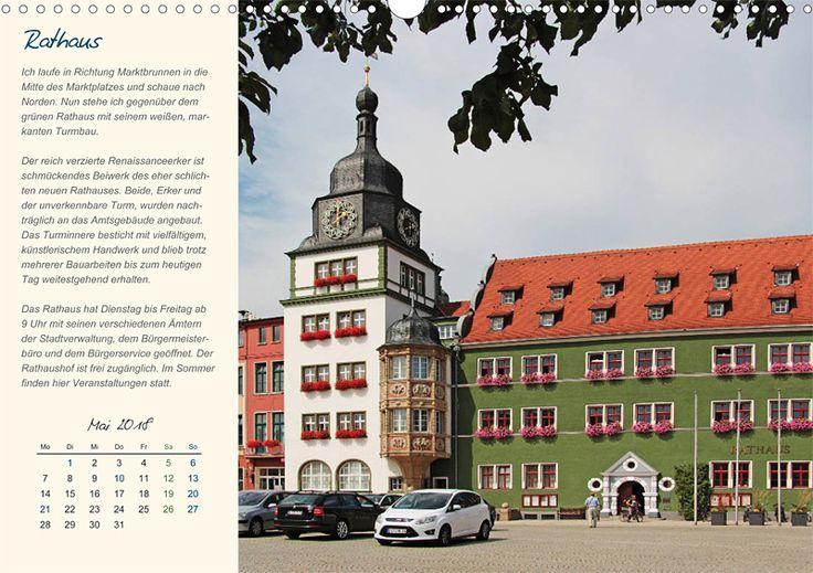 """Städte- und Regionalkalender """"Rudolstadt – mein Spaziergang durch den historische Stadtkern"""", Kalenderblatt Mai: Rathaus"""