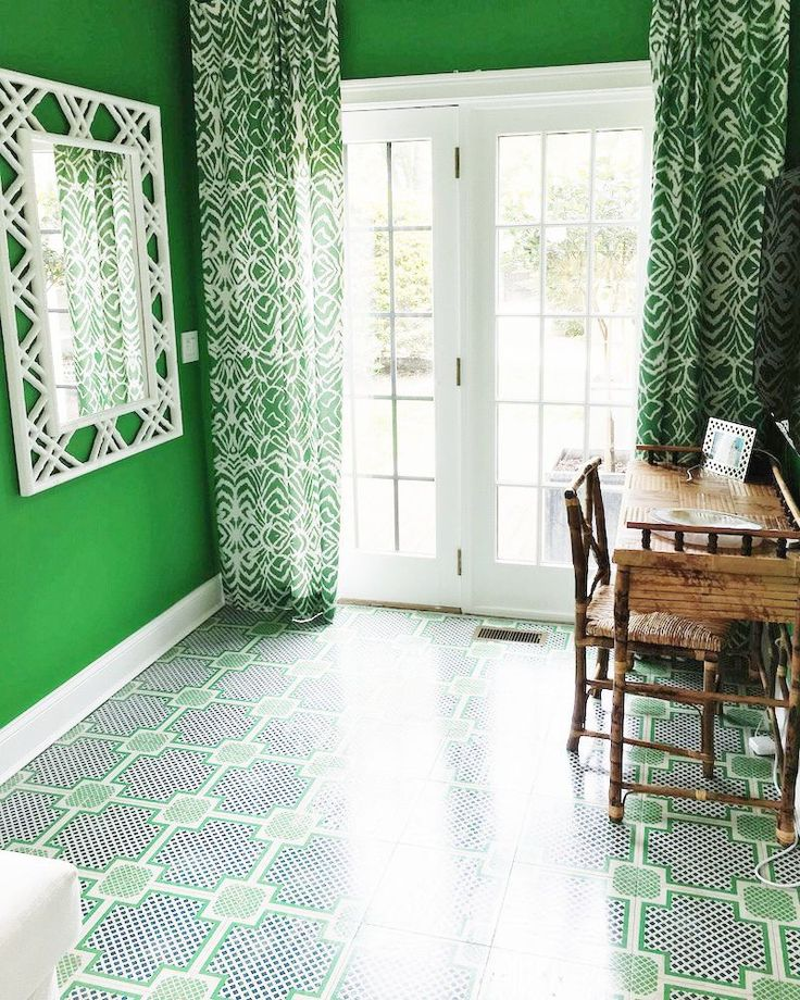 Gorgeous Green Home Office